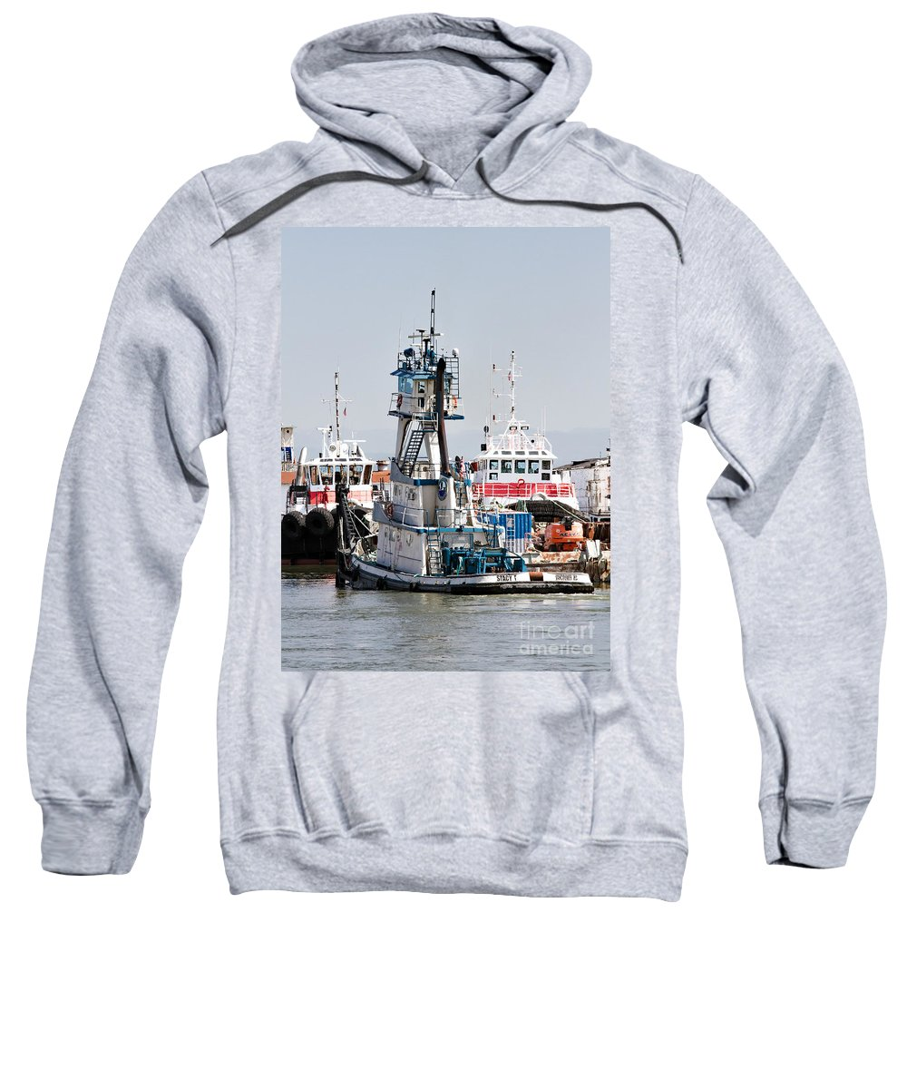 Columbia River Sweatshirt featuring the photograph Stacy T Docking by Marland Howard
