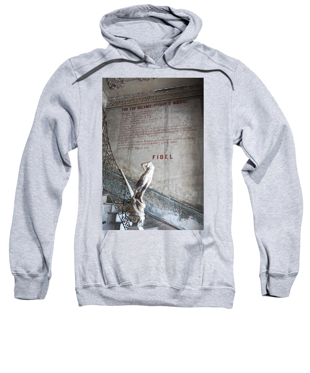 Fidel Sweatshirt featuring the photograph Stairs Of La Guarida by Lusi Morhayim