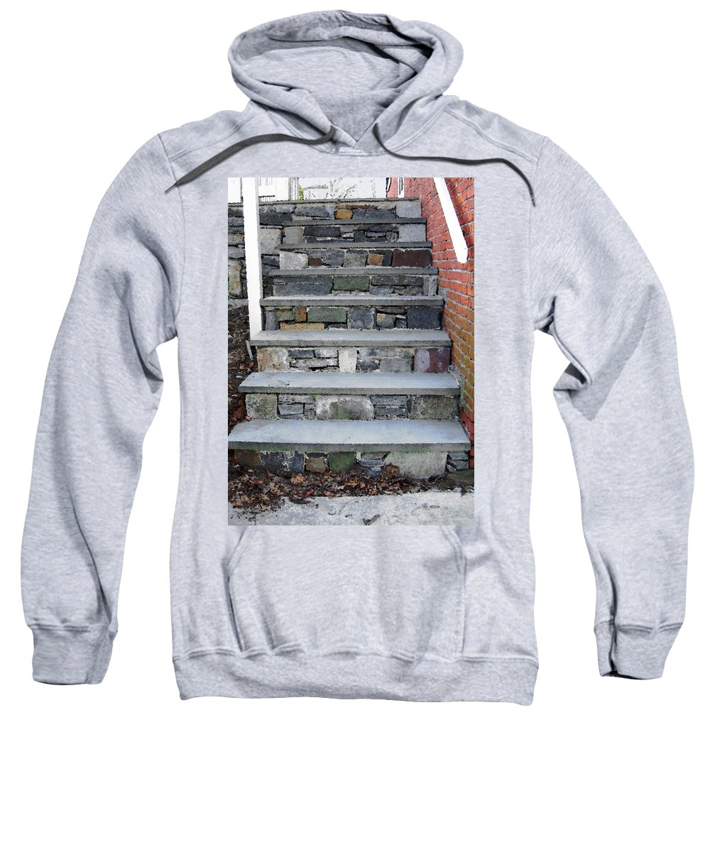 Stairs Sweatshirt featuring the photograph Stairs To The Plague House by RC DeWinter