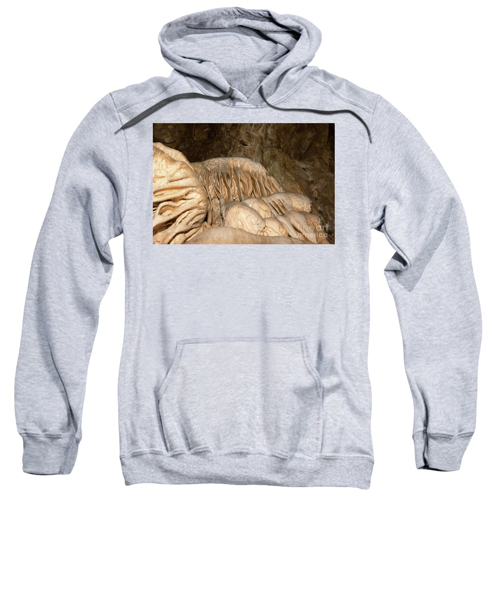 Bizarre Sweatshirt featuring the photograph Stalactite Formation In Karst Cave by Michal Boubin