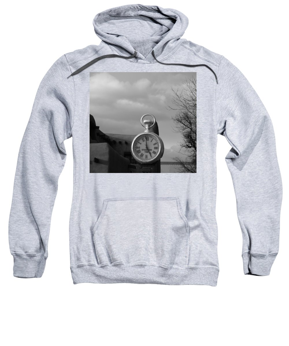 Black And White Sweatshirt featuring the photograph Standard Time by Rob Hans