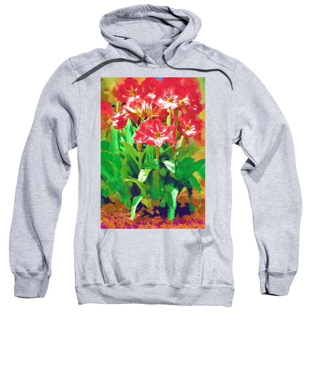 Flowers Sweatshirt featuring the photograph Standing At Attention by Donna Bentley