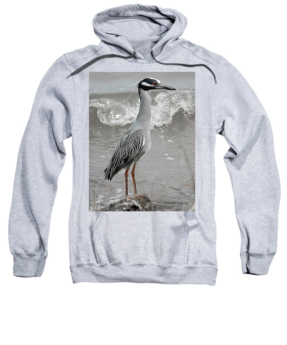 Bird Sweatshirt featuring the digital art Standing Proud by DigiArt Diaries by Vicky B Fuller