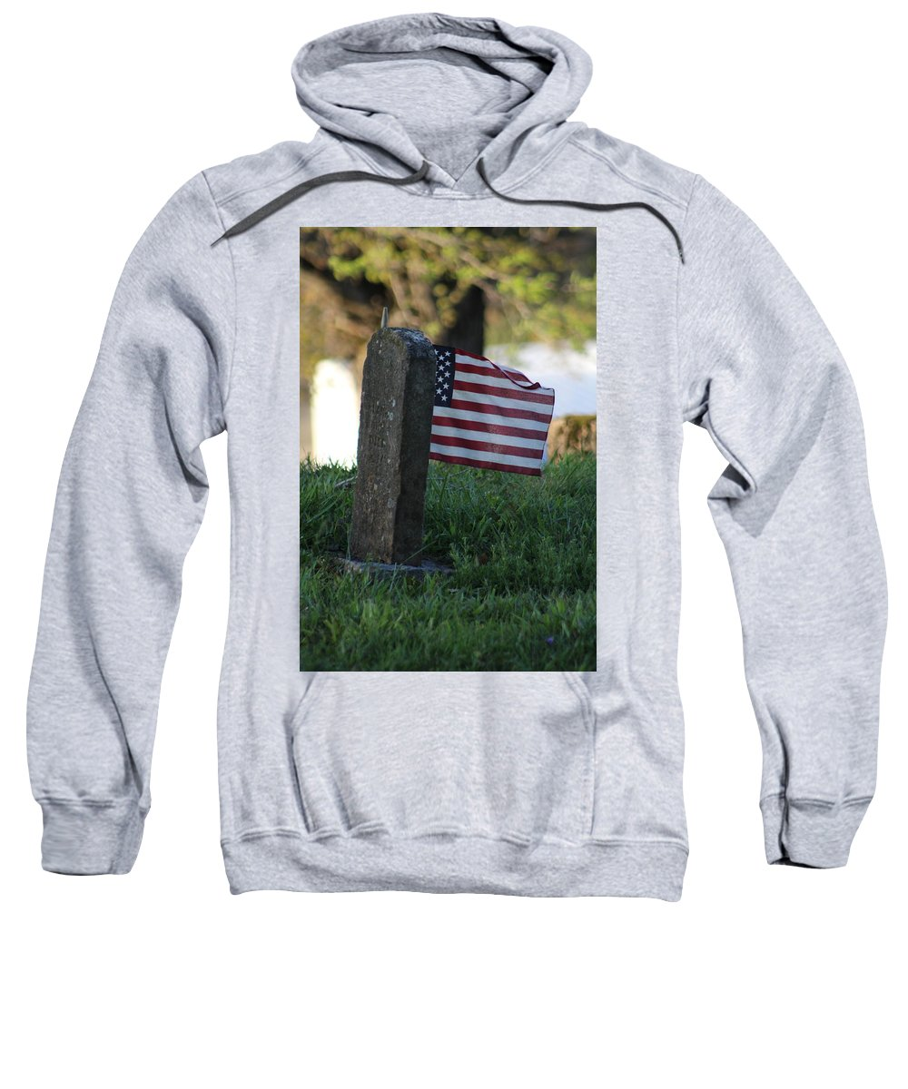 American Flag Sweatshirt featuring the photograph Standing Strong by April Margeson