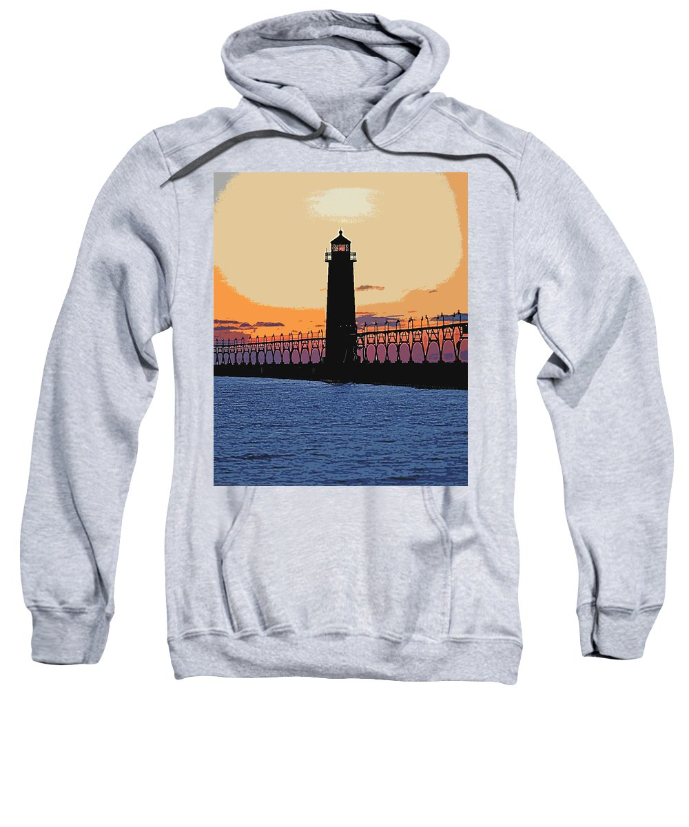 Light House Sweatshirt featuring the photograph Standing Sure by Robert Pearson