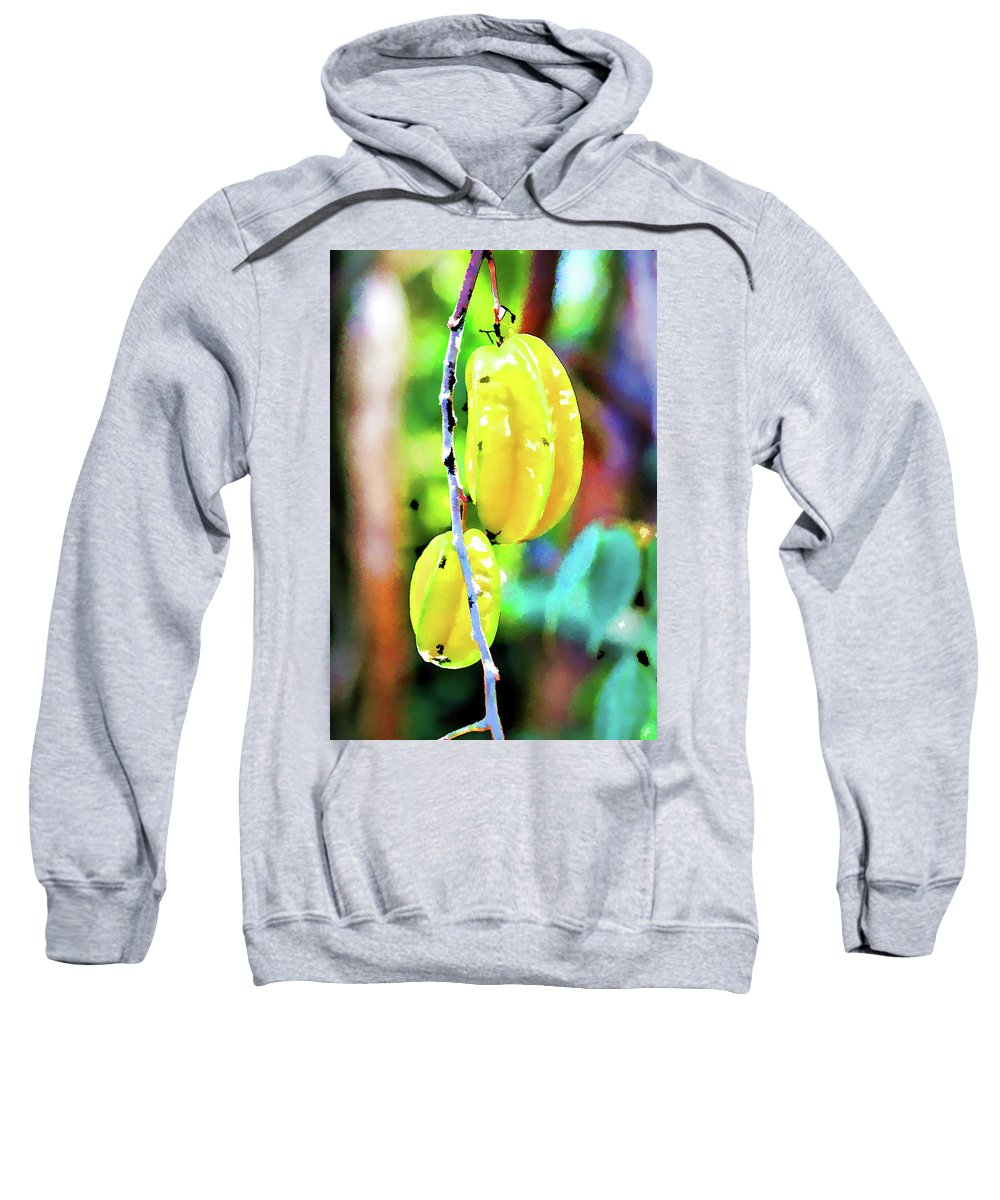 Beautiful Sweatshirt featuring the painting Star Fruit by Jeelan Clark