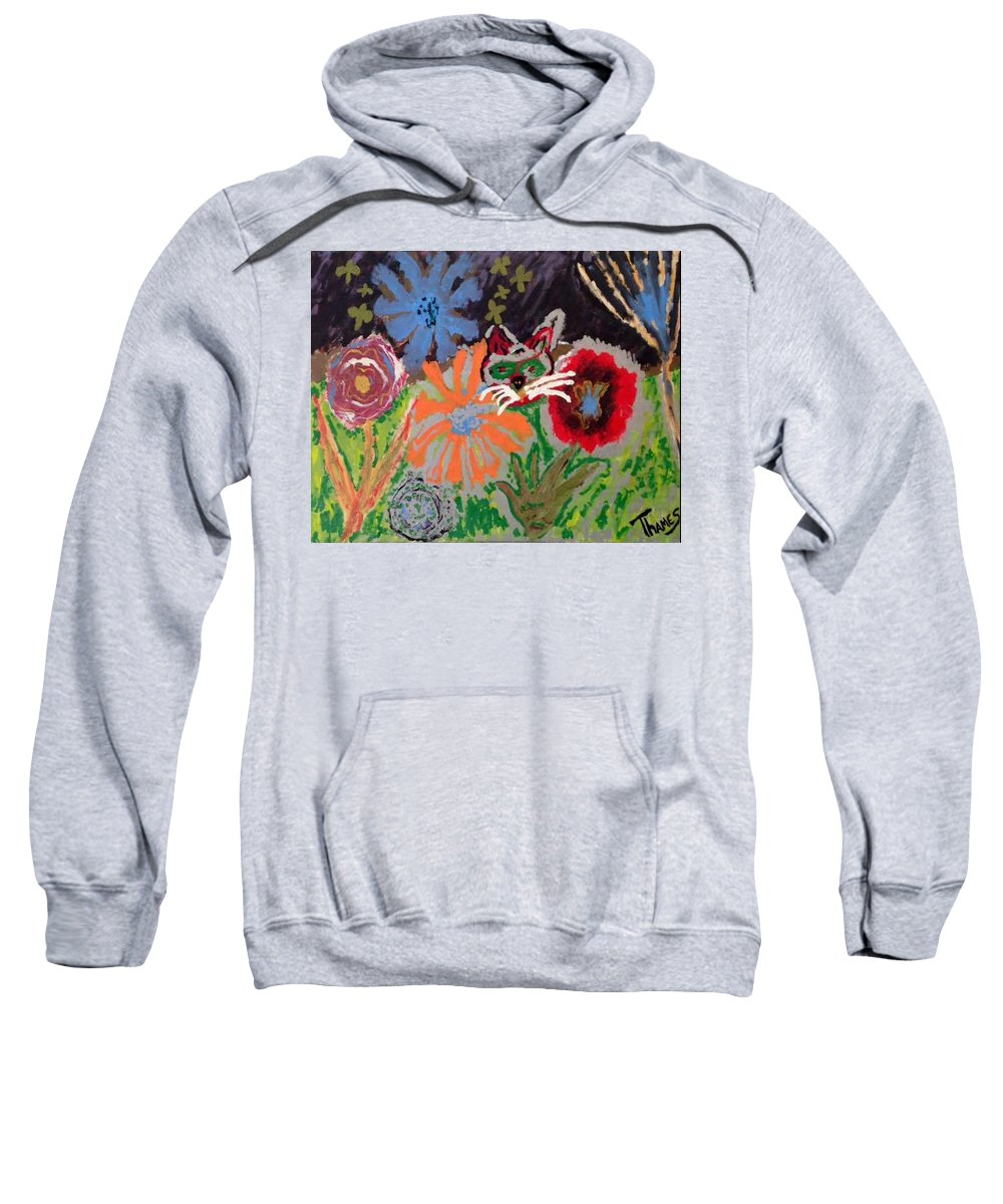 Night Sweatshirt featuring the painting Stars At Night by Chris Thames