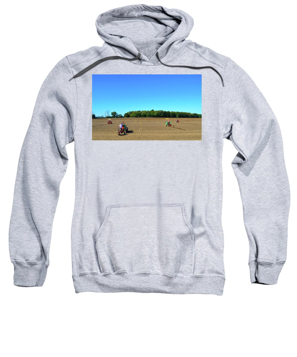 Farm Sweatshirt featuring the photograph Starting To Plow by Lyle Crump