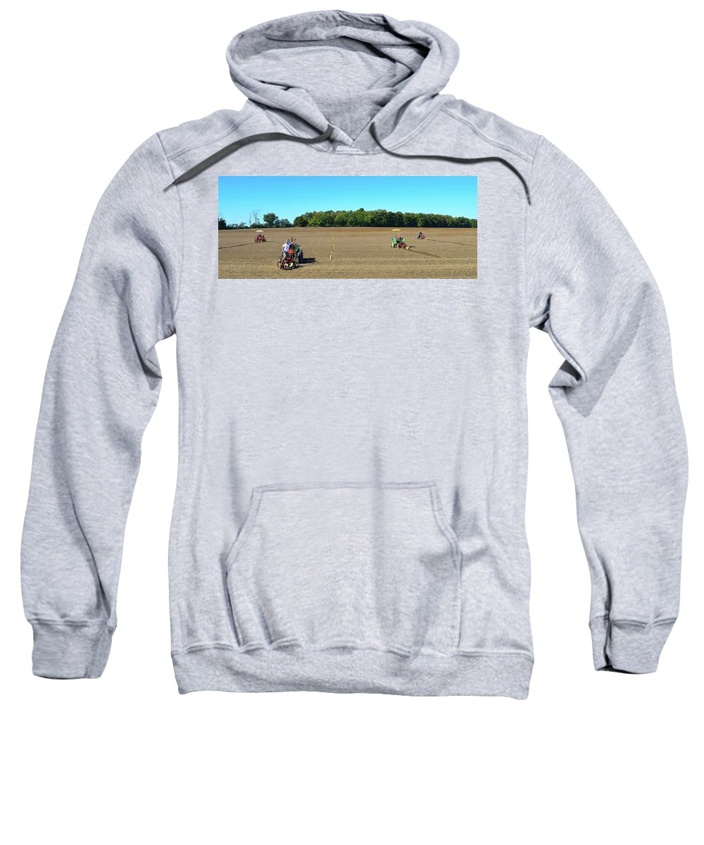 Farm Sweatshirt featuring the photograph Starting To Plow Two by Lyle Crump