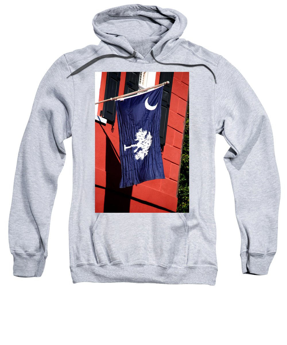 Photography Sweatshirt featuring the photograph State Flag Of South Carolina by Susanne Van Hulst