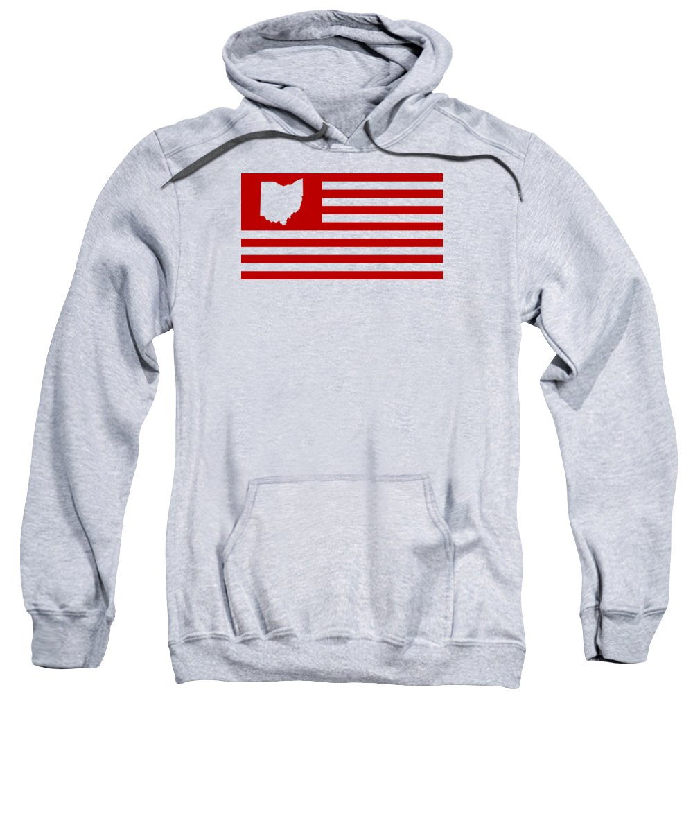 Ohio Sweatshirt featuring the digital art State Of Ohio - American Flag by War Is Hell Store