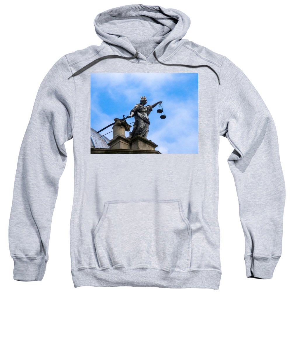 Statue Sweatshirt featuring the photograph Statue In Sky by Butter Milk