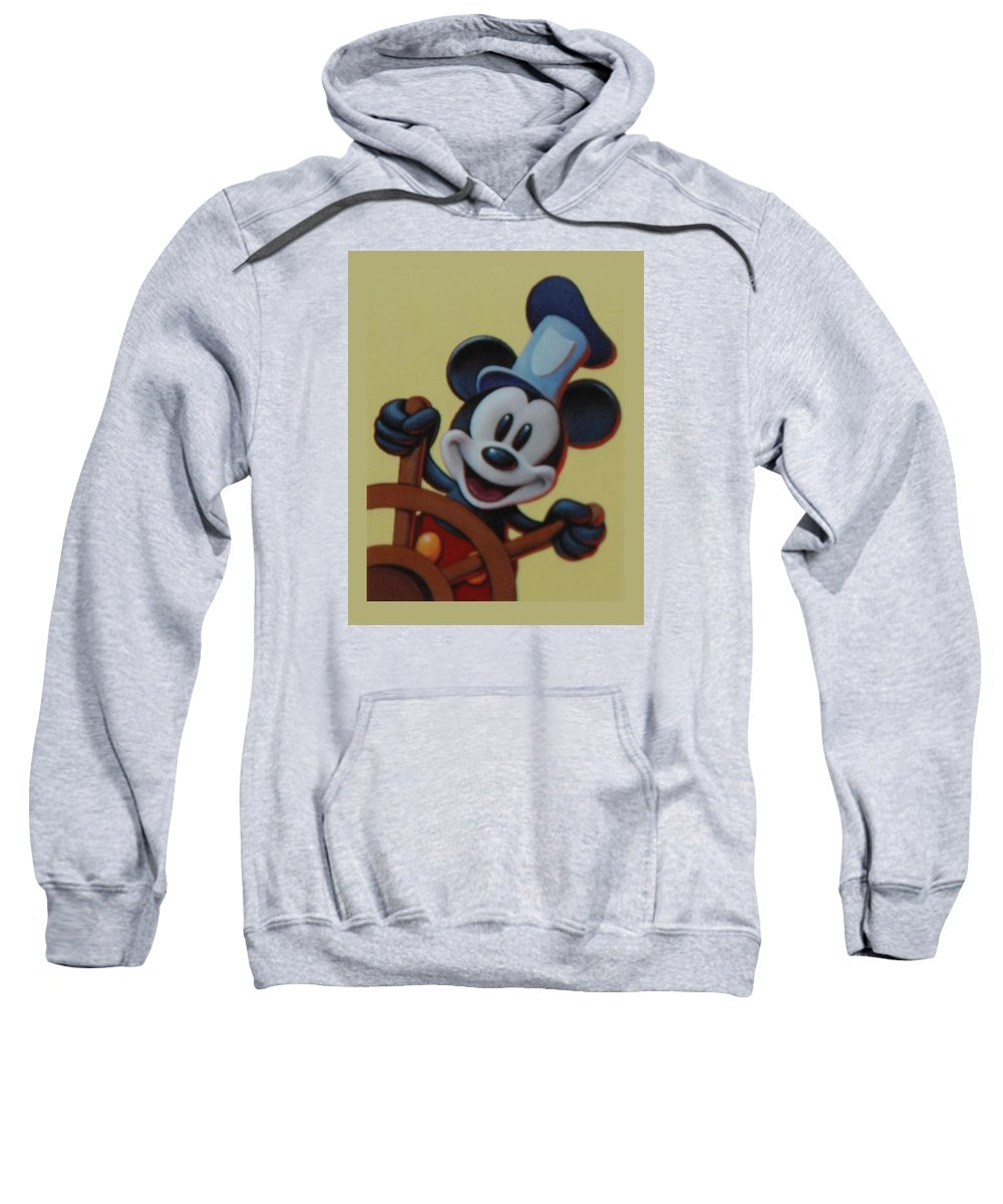 Disney Sweatshirt featuring the photograph Steamboat Willy by Rob Hans