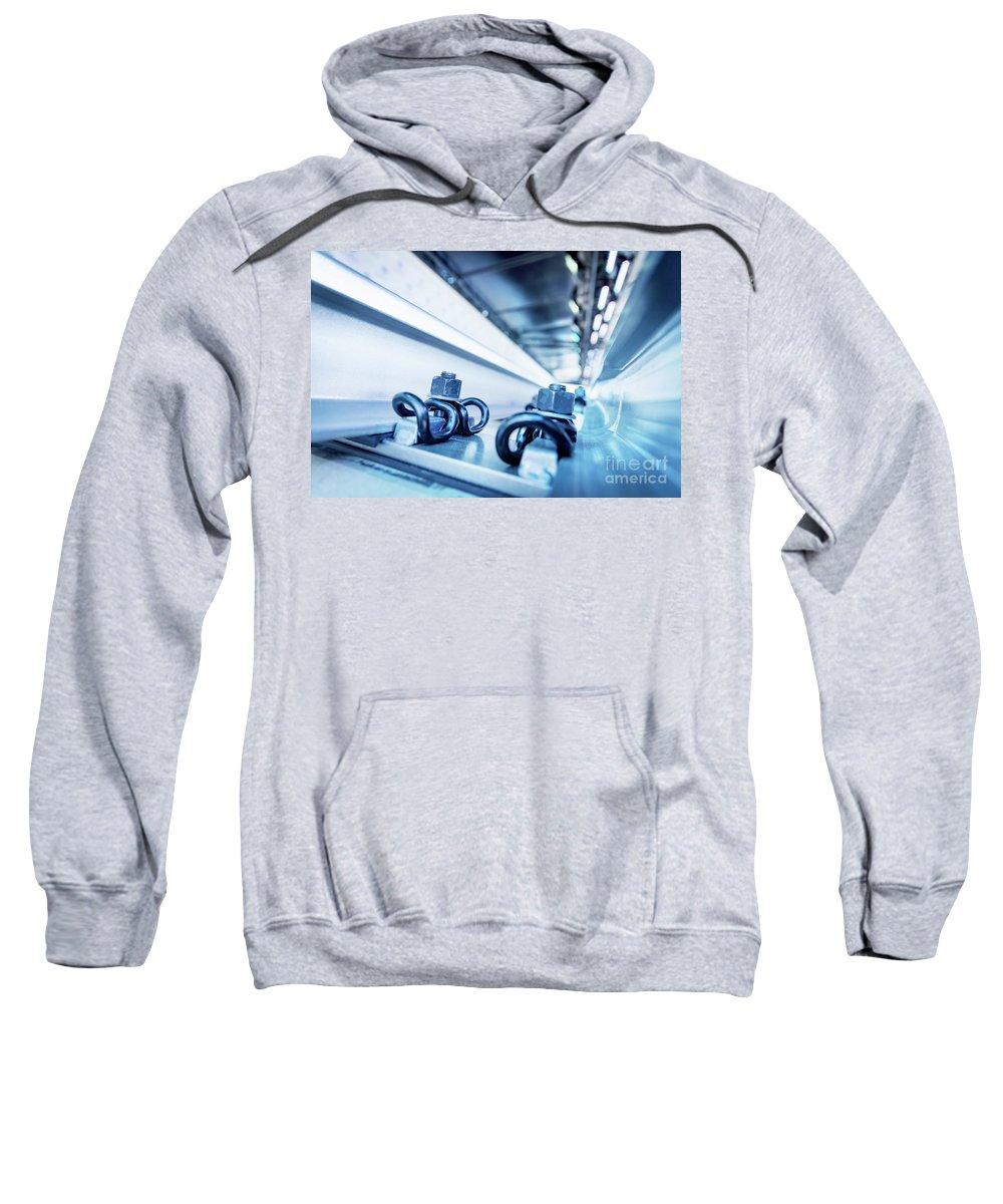 Engineering Sweatshirt featuring the photograph Steel Mechanic Hardware by Michal Bednarek