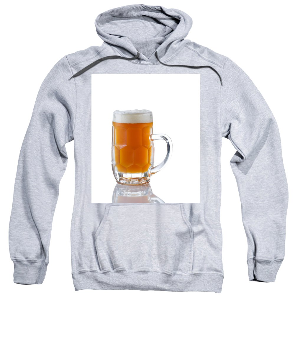Beer Sweatshirt featuring the photograph Stein Filled With Amber Beer by Thomas Baker