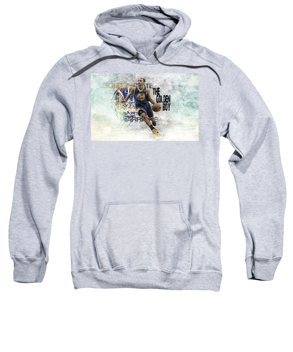 Stephen Curry Sweatshirt featuring the digital art Stephen Curry by Bert Mailer