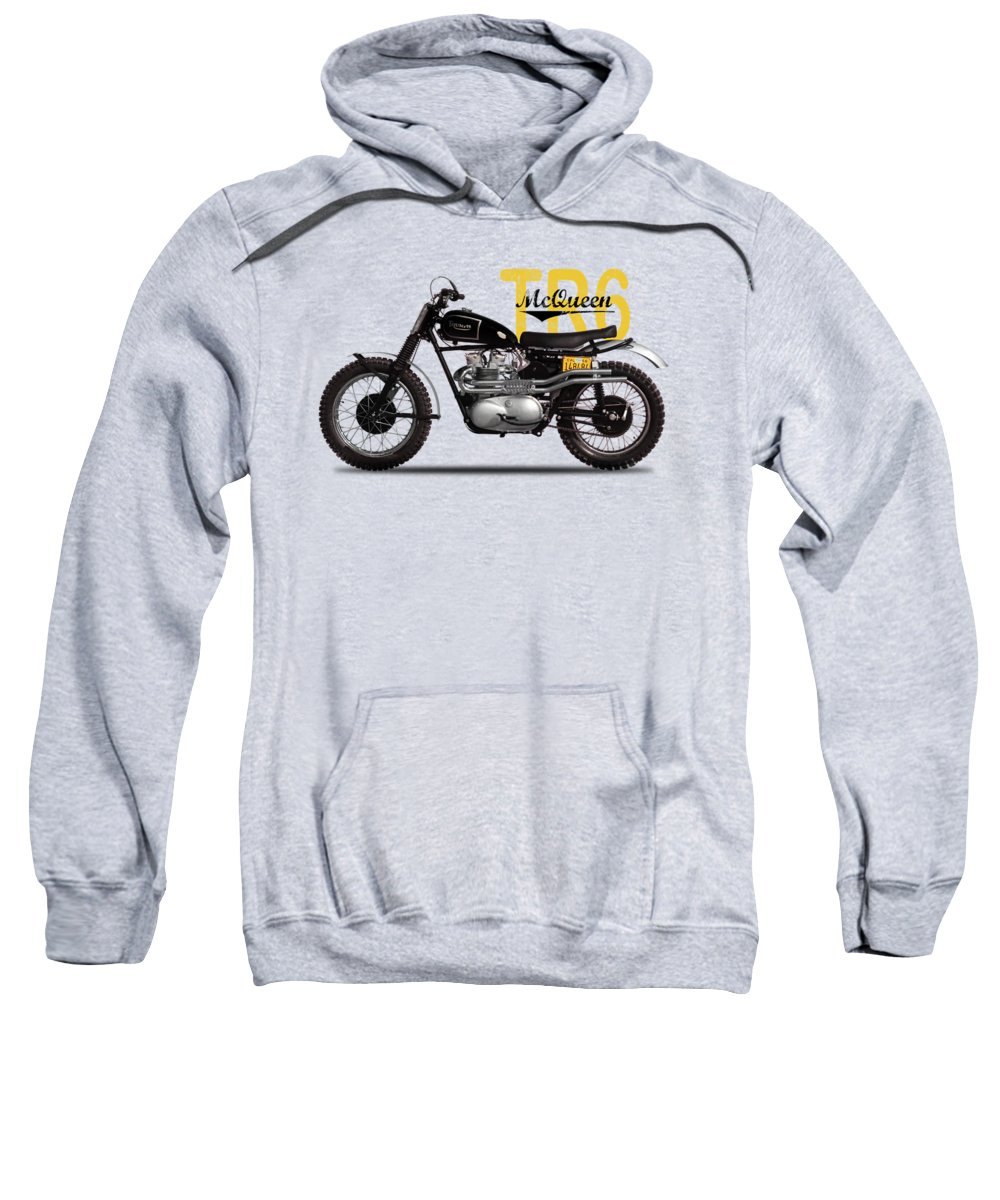 Motorcycle Sweatshirt featuring the photograph Steve Mcqueen Desert Racer by Mark Rogan