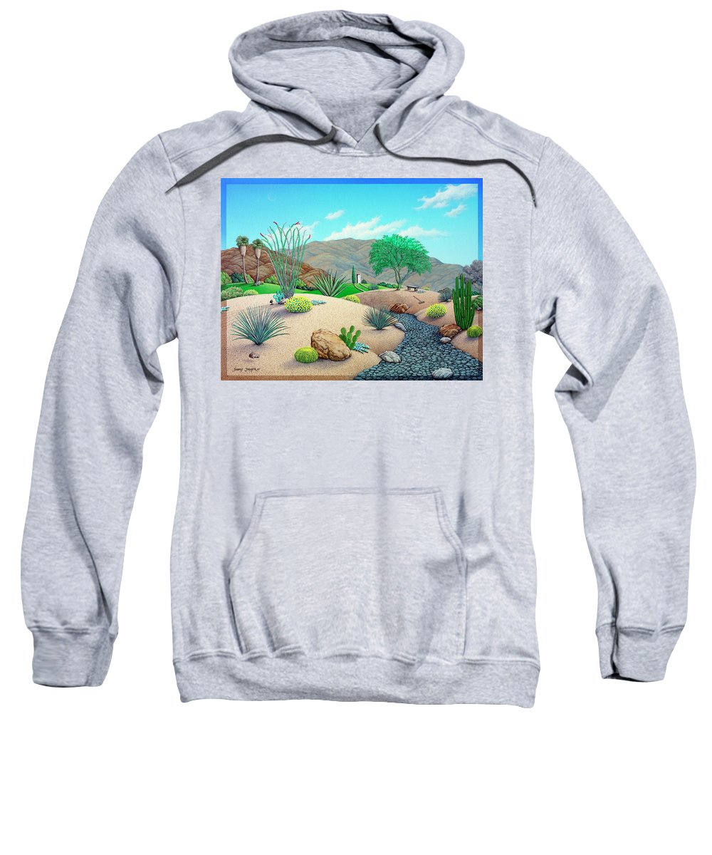 Landscape Sweatshirt featuring the painting Steve's Yard by Snake Jagger