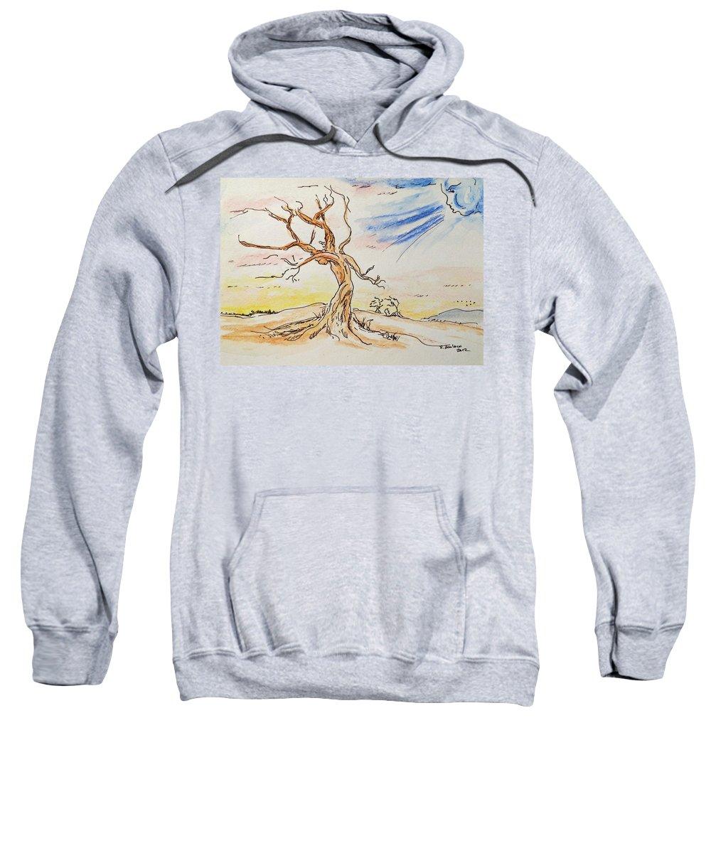 Fantasy Sweatshirt featuring the painting Stick Season by Rachel Barlow