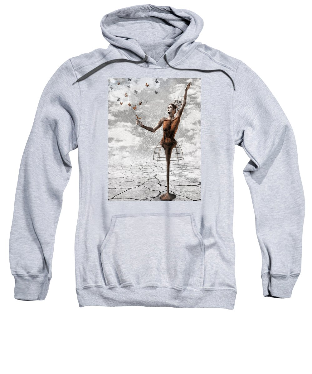 Surreal Sweatshirt featuring the painting Still Believe by Jacky Gerritsen
