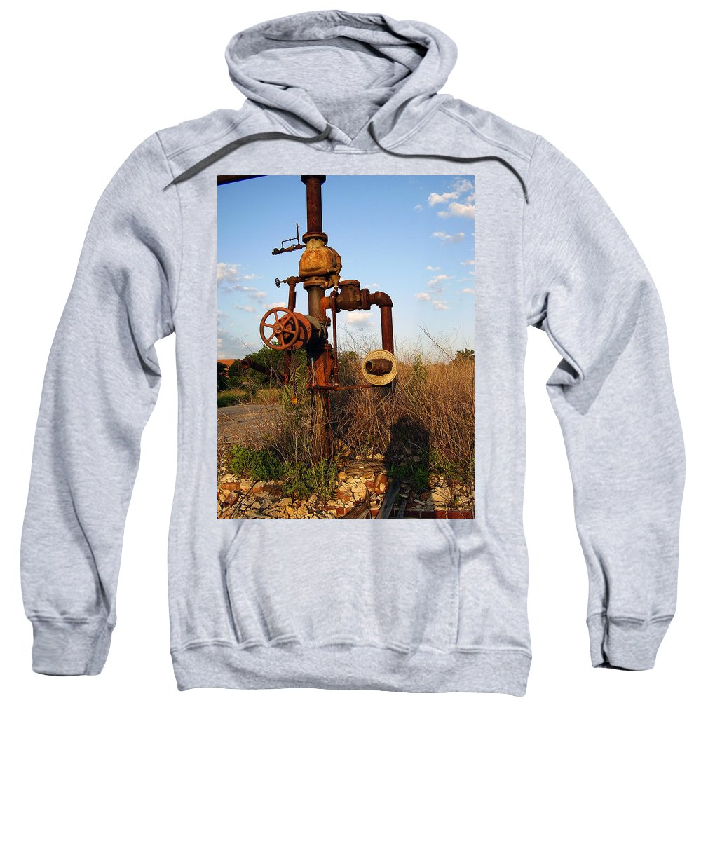 Pipes Sweatshirt featuring the photograph Still Here by Flavia Westerwelle
