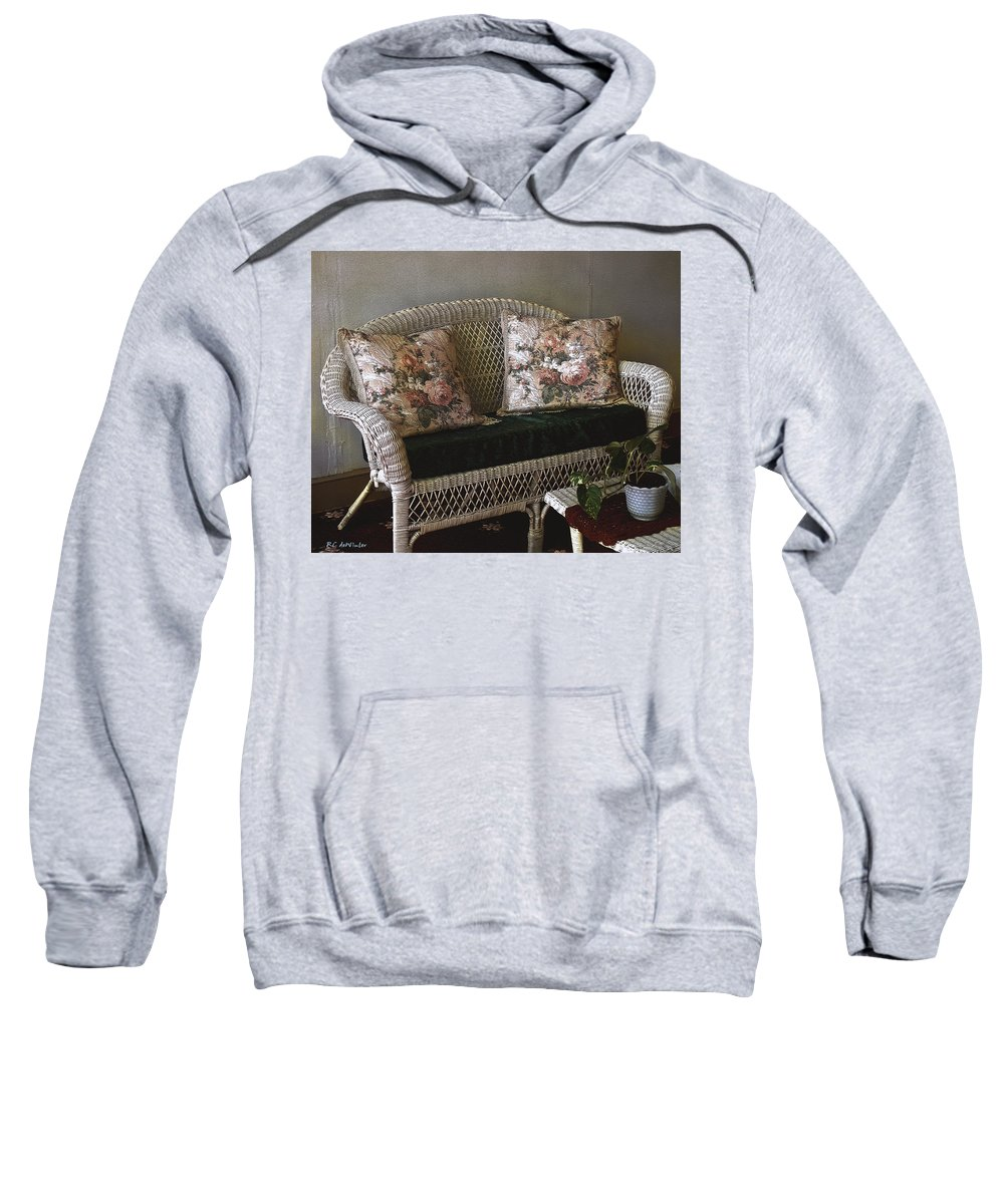 Antiques Sweatshirt featuring the painting Still Life In Rough Plaster by RC DeWinter