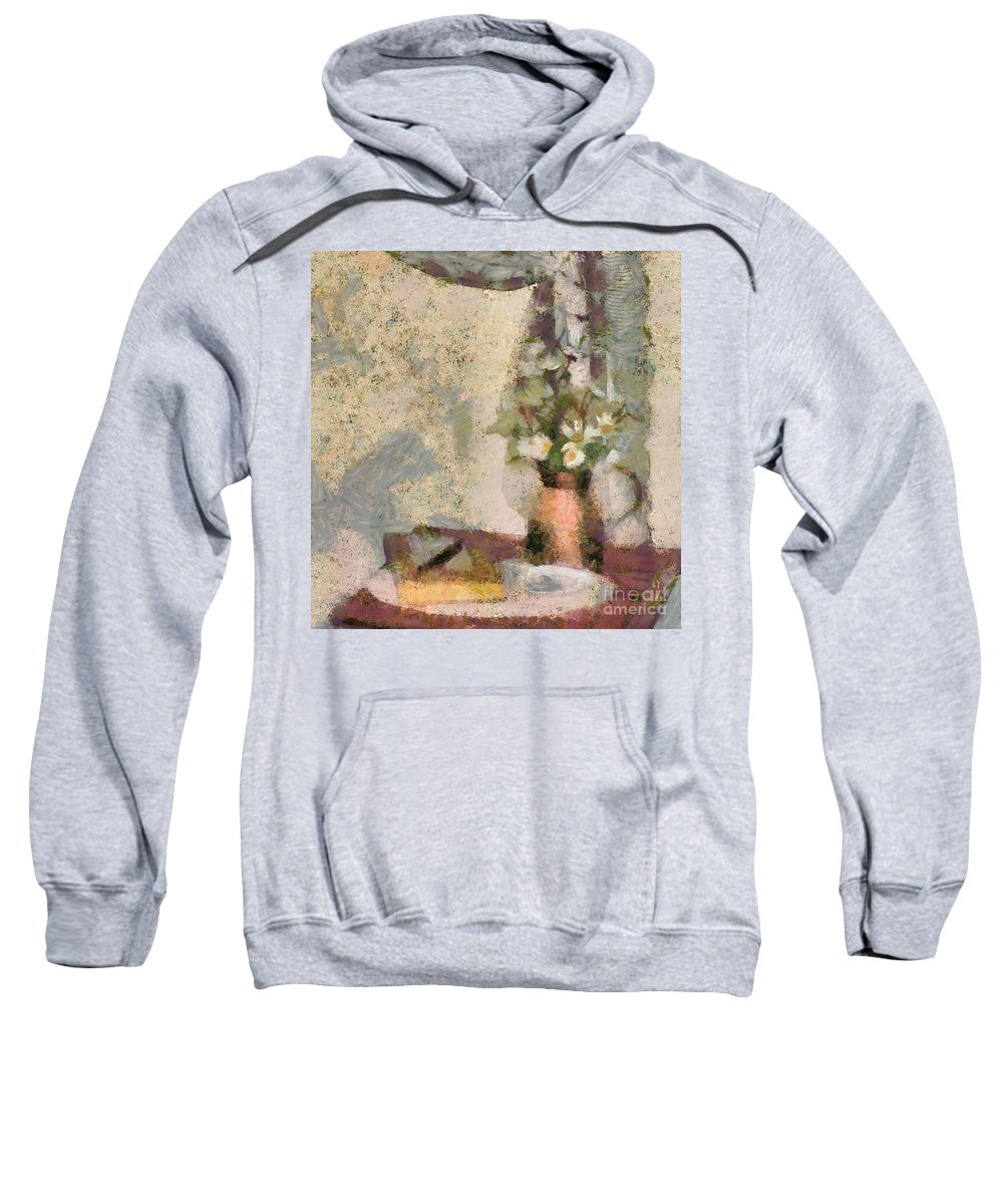 Still Life Sweatshirt featuring the digital art Still Life by Louise Lavallee