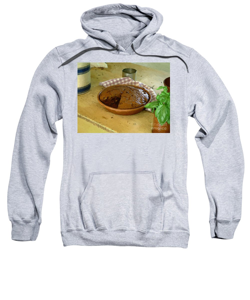 Gingerbread Sweatshirt featuring the painting Still Life With Gingerbread by RC DeWinter