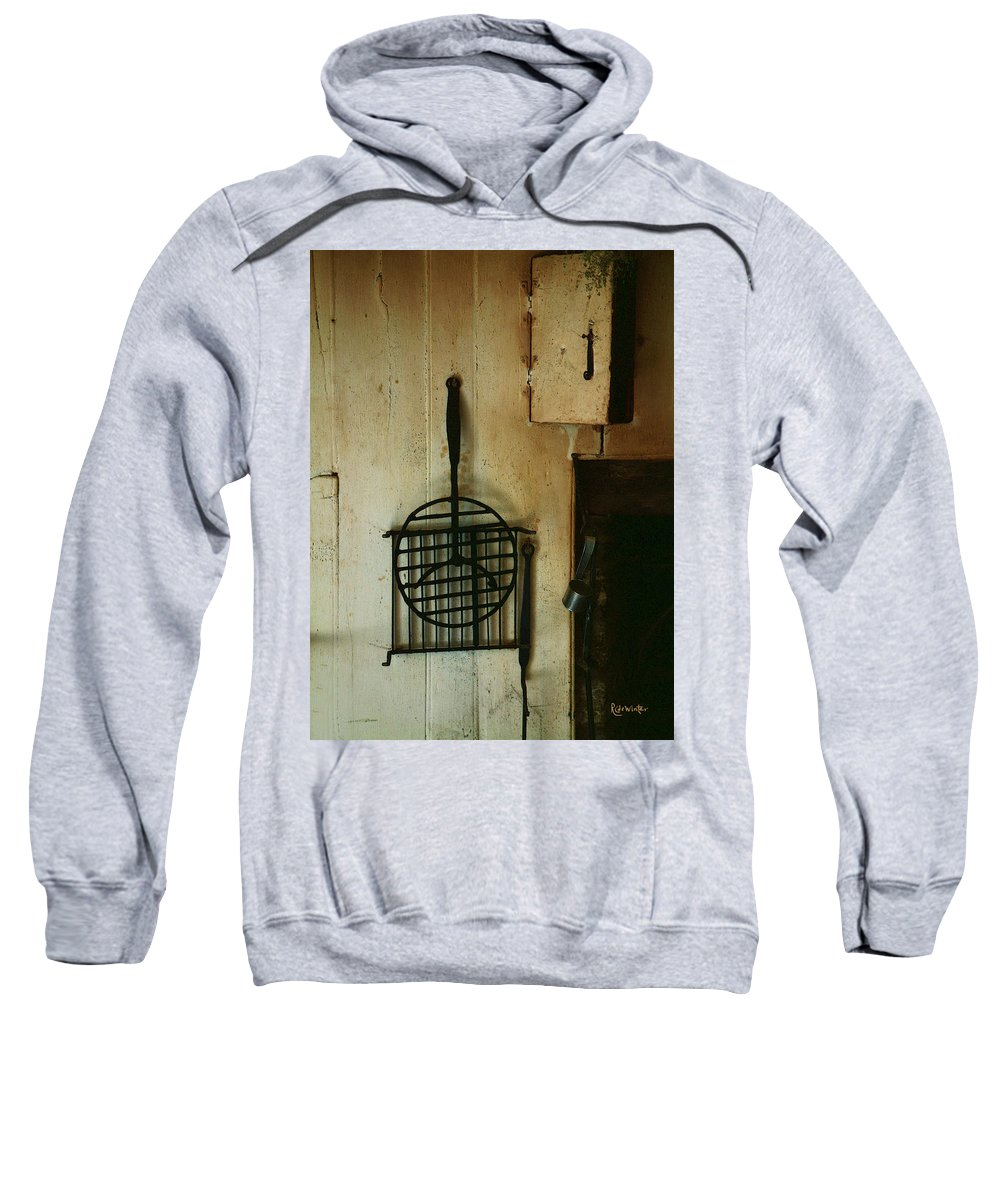 Still Life Sweatshirt featuring the painting Still Life With Hearth Tools by RC DeWinter