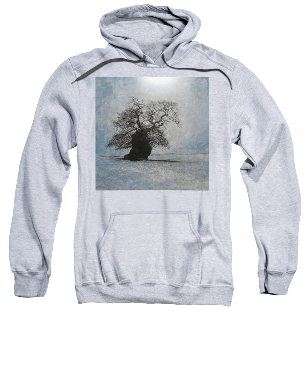 Silhouette Sweatshirt featuring the painting Stilton Silhouette by Leah Tomaino
