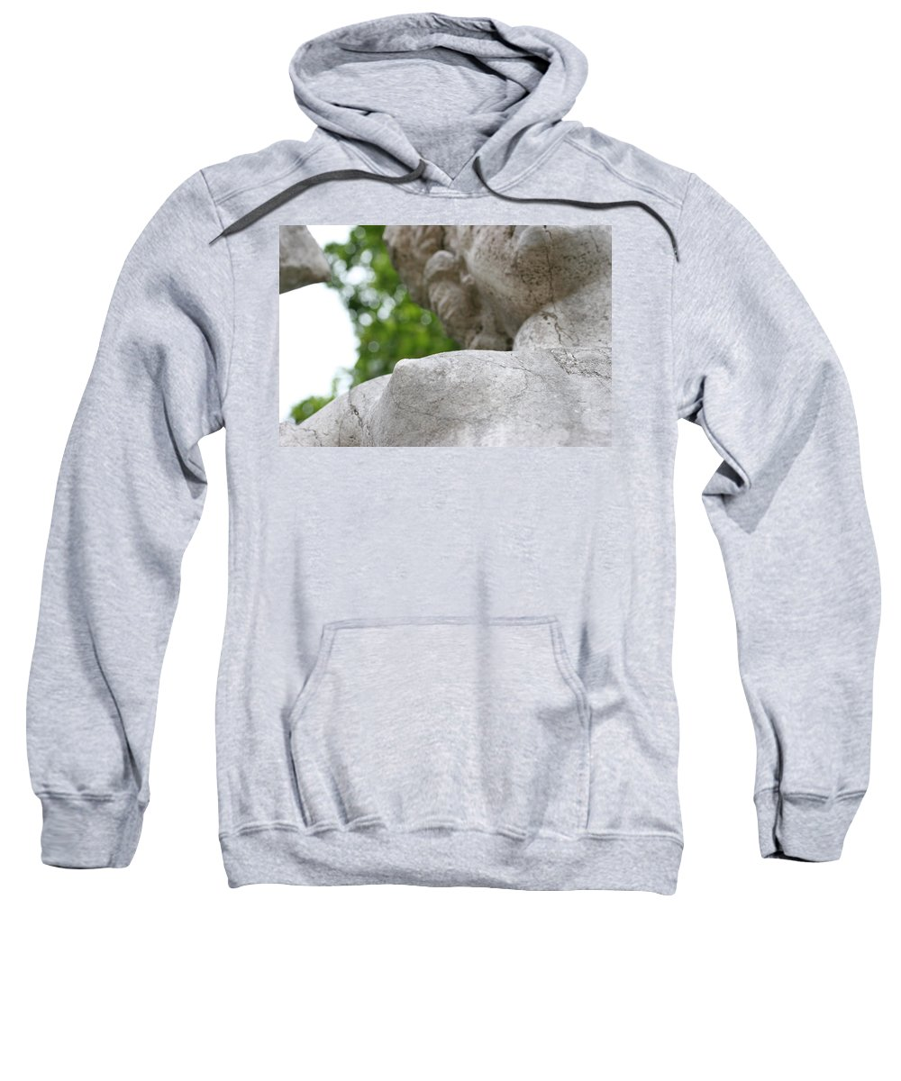 Stone Statue Viscaya Gardens Miami Photography Garden Sweatshirt featuring the photograph Stone 2 by Norah Holsten