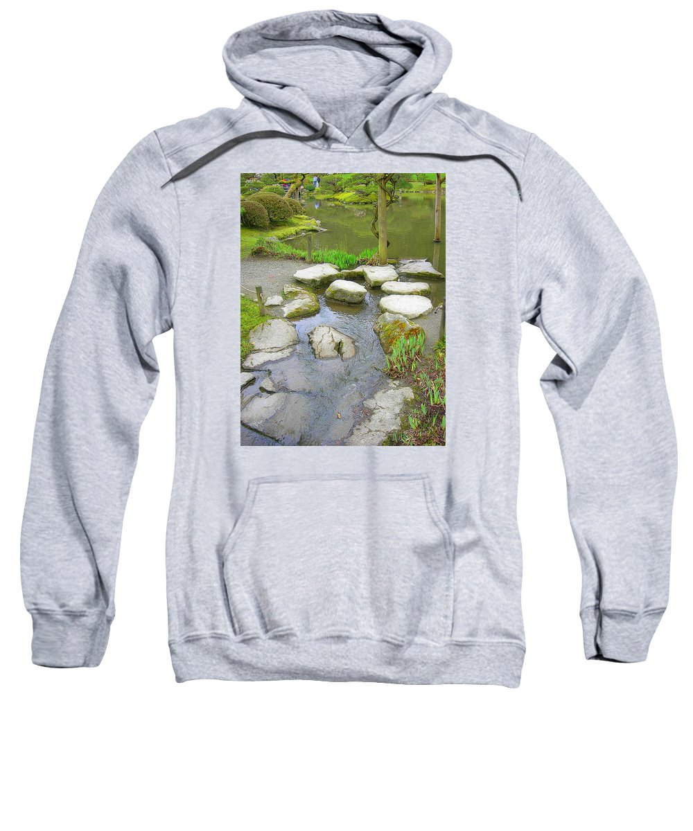 Japanese Sweatshirt featuring the photograph Stone Garden by Maro Kentros