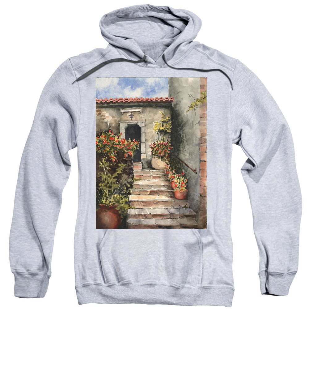 Steps Sweatshirt featuring the painting Stone Steps by Sam Sidders