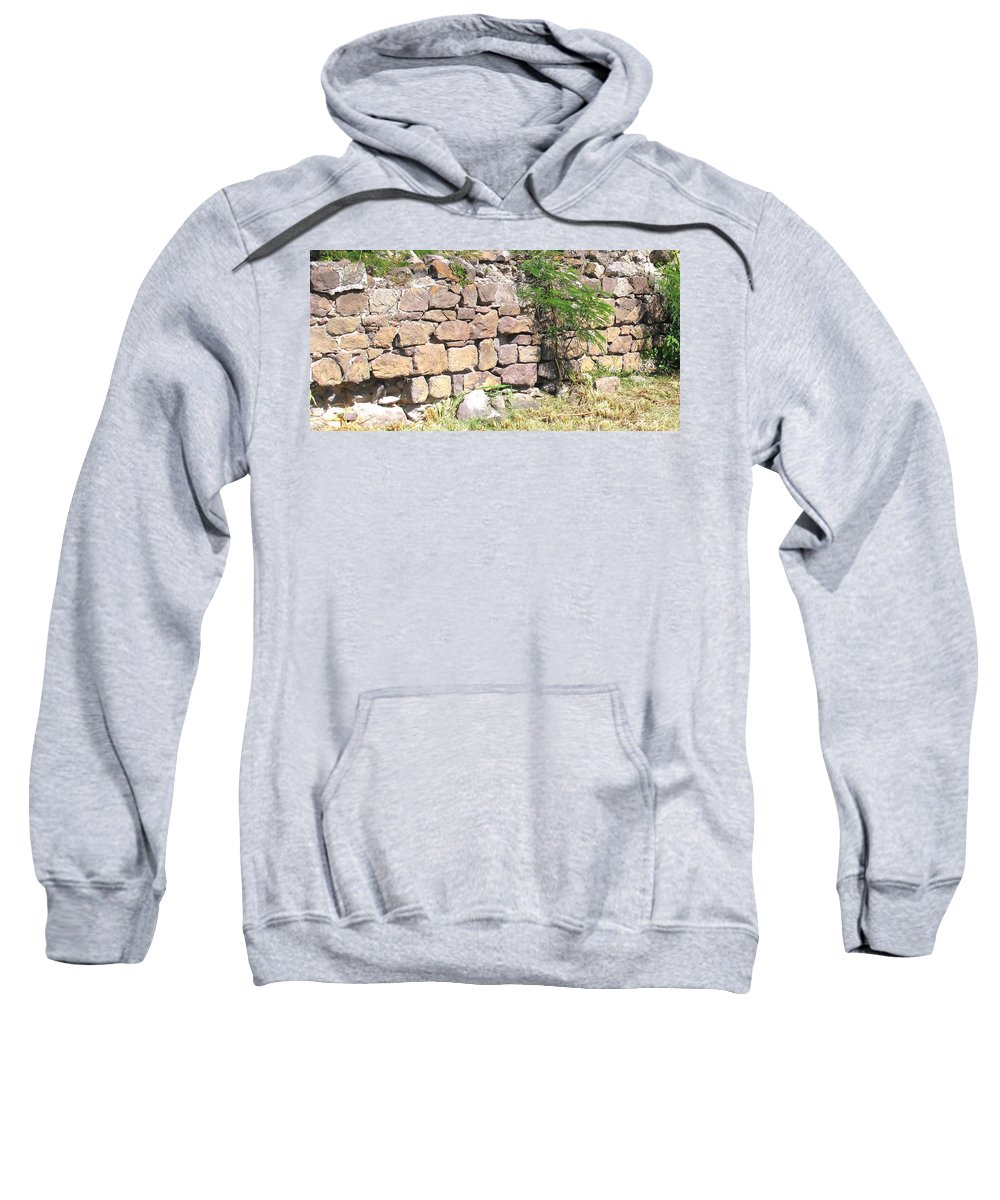 Stone Wall Sweatshirt featuring the photograph Stone Wall by Ian MacDonald
