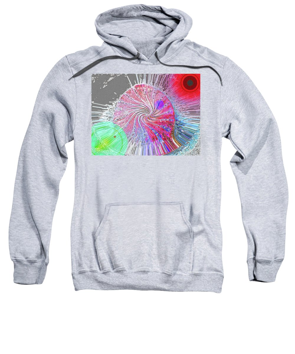 Abstract Sweatshirt featuring the digital art Stop The World... by Lenore Senior