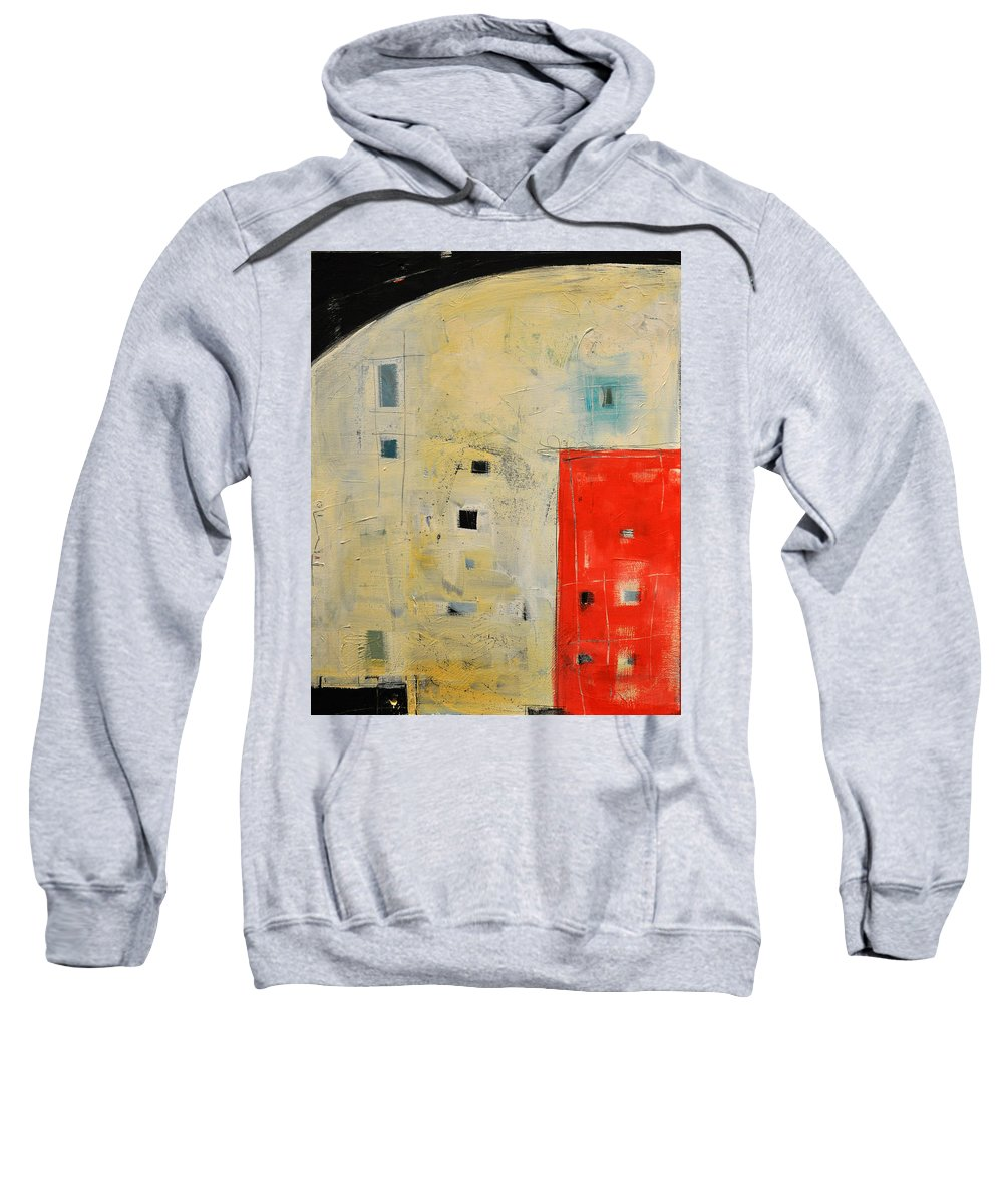 Abstract Sweatshirt featuring the painting Storage Shed by Tim Nyberg