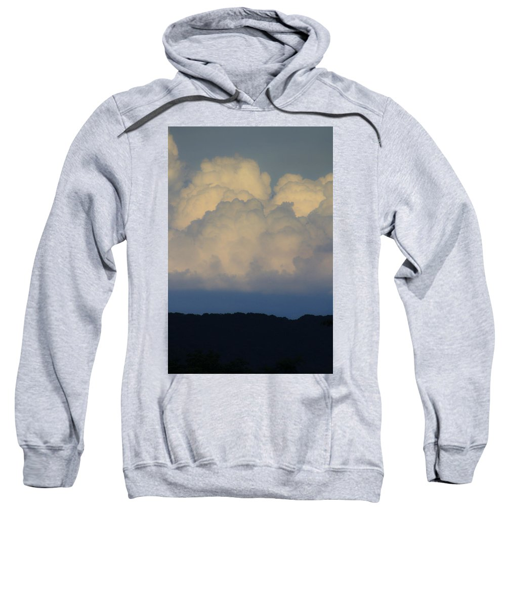 Clouds Sweatshirt featuring the photograph Storm At Sunset Bluestone State Park West Virginia by Teresa Mucha
