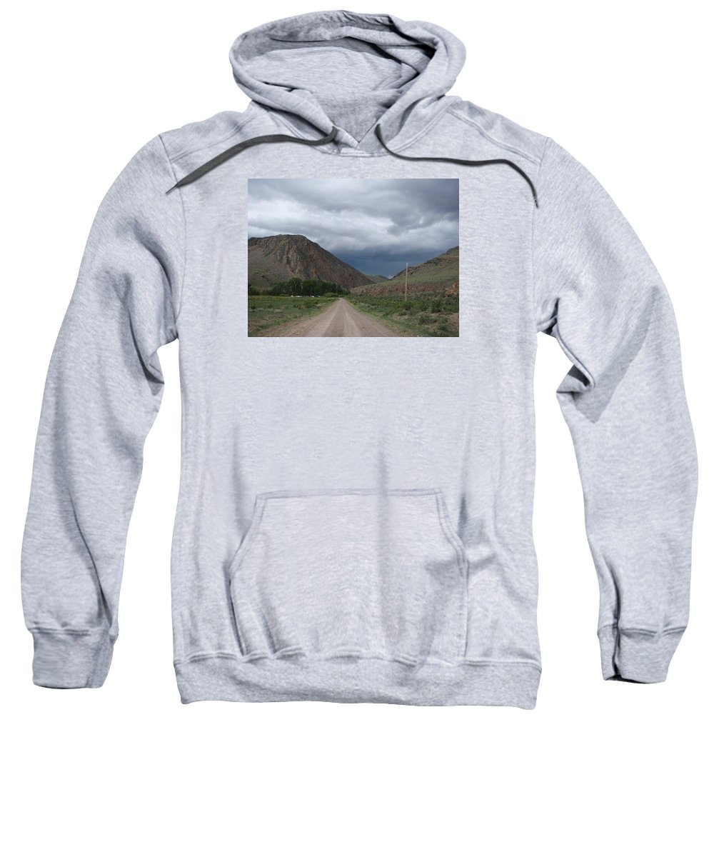 Landscape Sweatshirt featuring the photograph Storm Clouds by Mary Lynne Crispo
