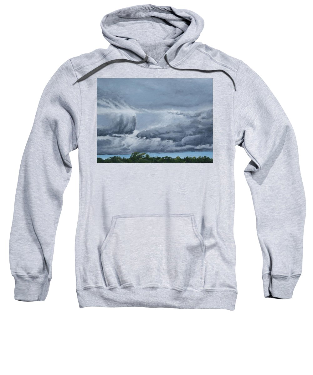 Clouds Sweatshirt featuring the pastel Storm Clouds by Stephen Duffin
