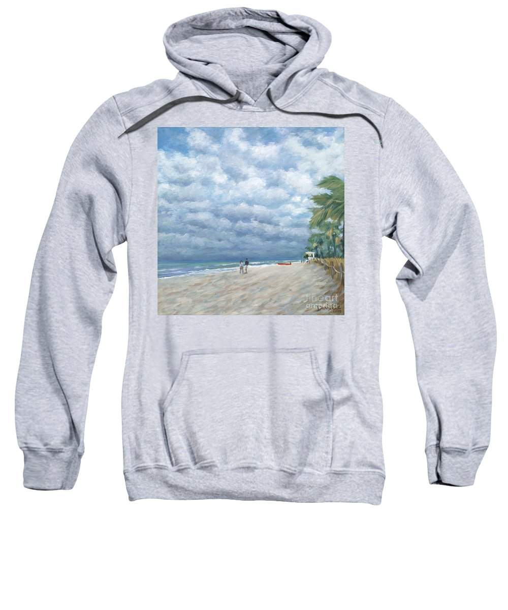 Fort Lauderdale Sweatshirt featuring the painting Storm On The Horizon by Danielle Perry