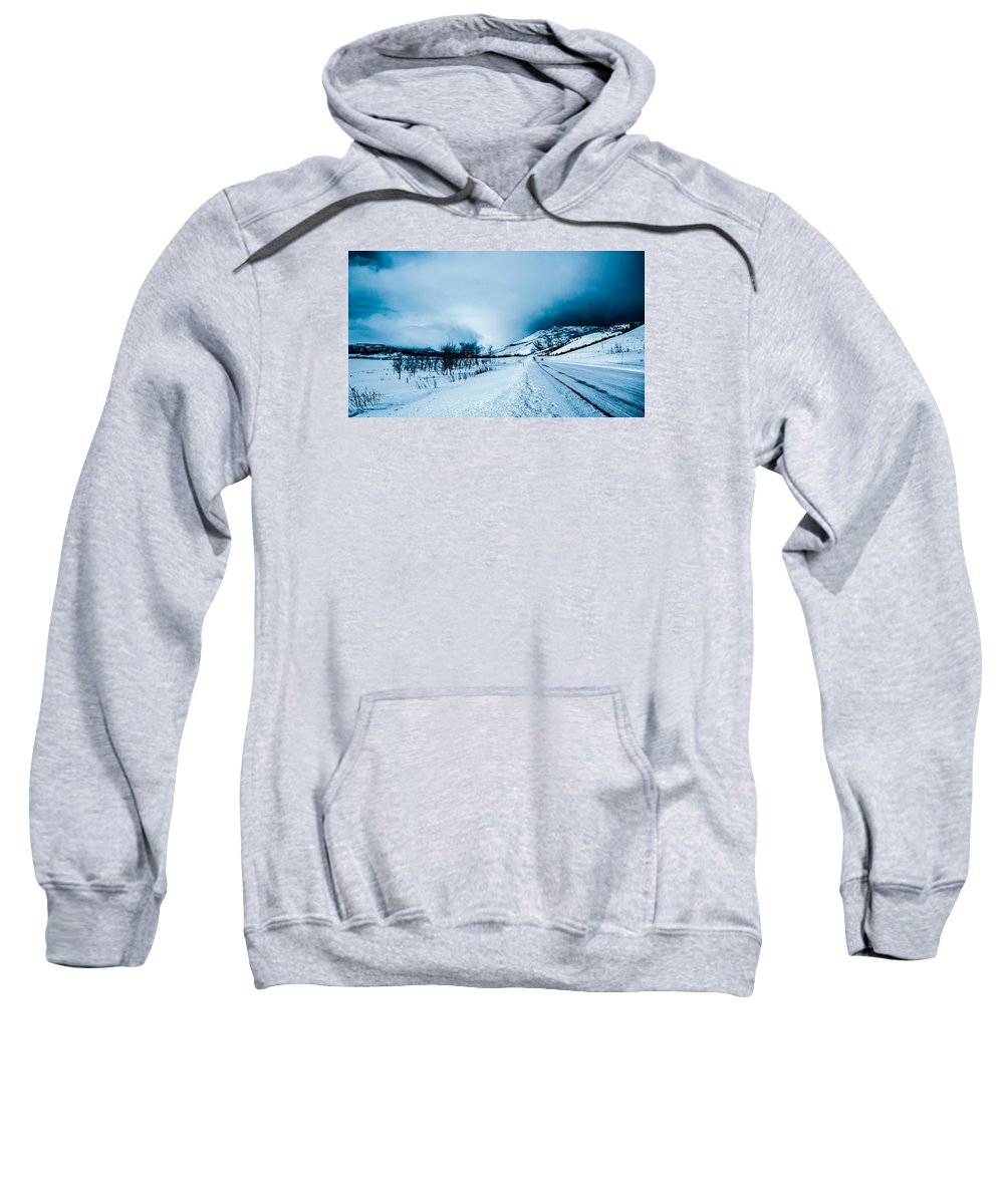 Mountain Sweatshirt featuring the photograph Storm On The Mountain by Jonathan Horan
