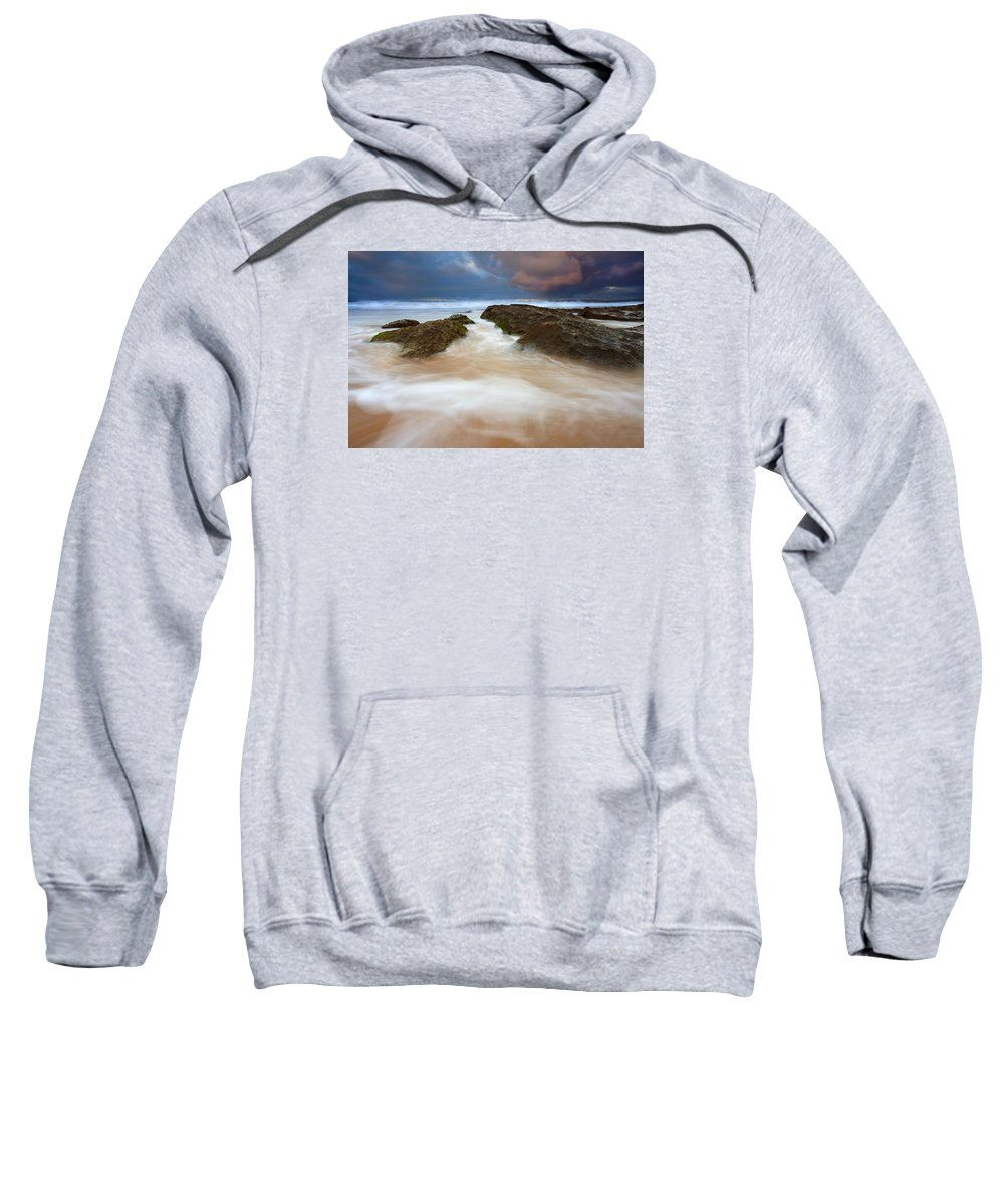 Seascape Sweatshirt featuring the photograph Storm Shadow by Mike Dawson