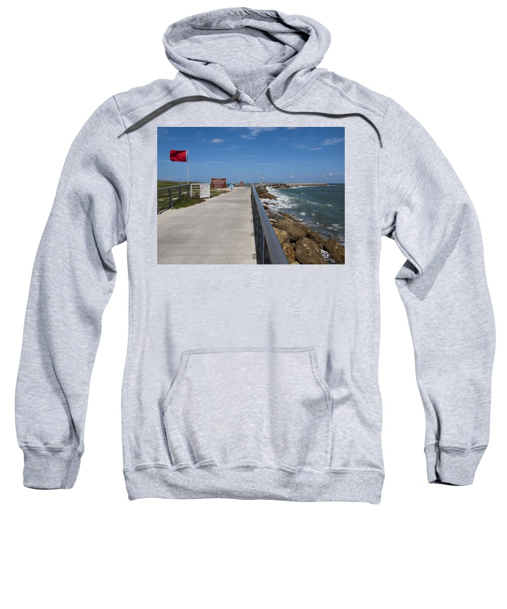 Storm Sweatshirt featuring the photograph Storm Warning On The Atlantic Ocean In Florida by Allan Hughes