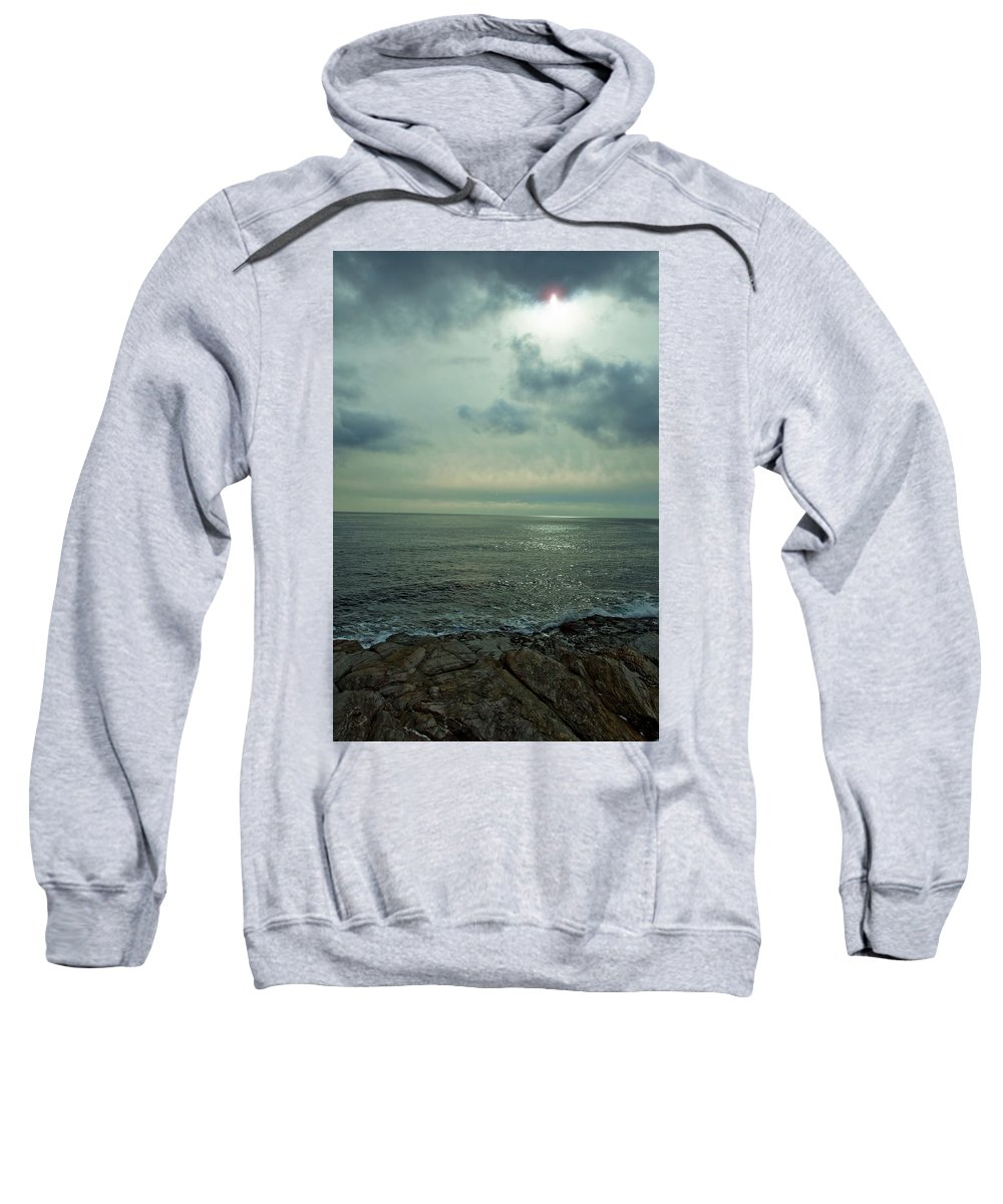 Ocean Sweatshirt featuring the photograph Stormy Day by Steven Natanson