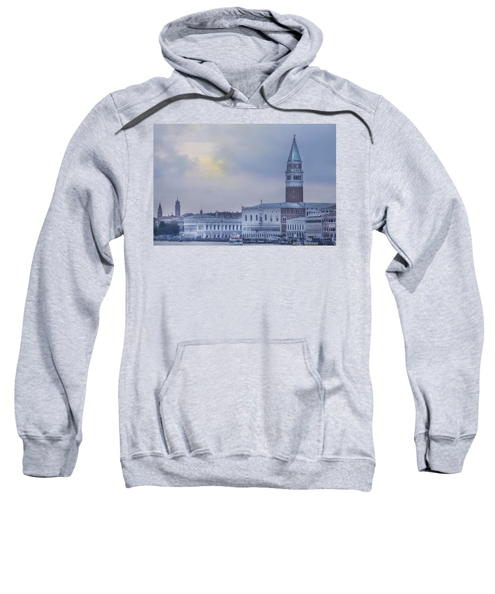 Venice Sweatshirt featuring the photograph Stormy Evening In Venice by Carrie Kouri