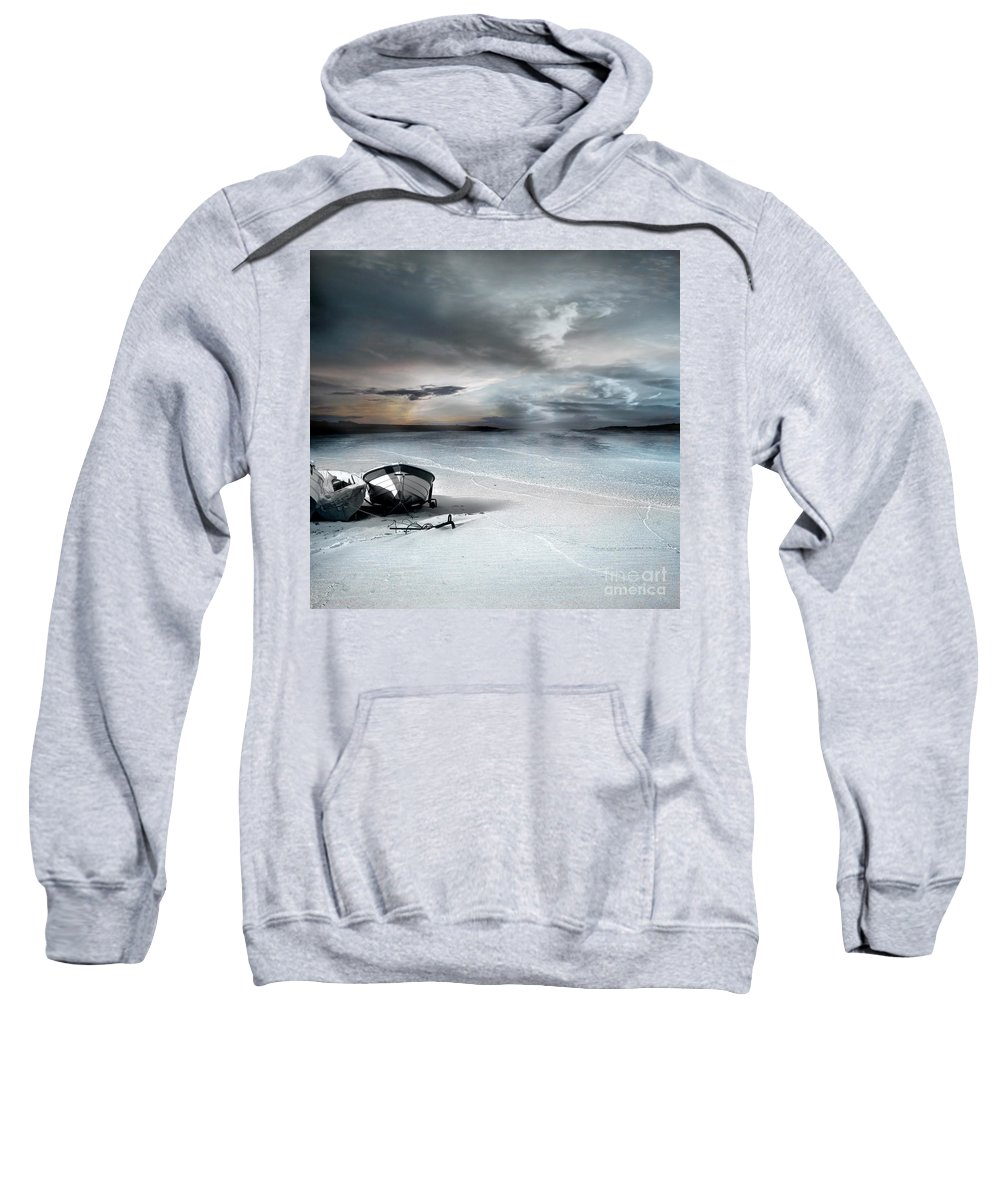 Water Sweatshirt featuring the photograph Stranded by Jacky Gerritsen