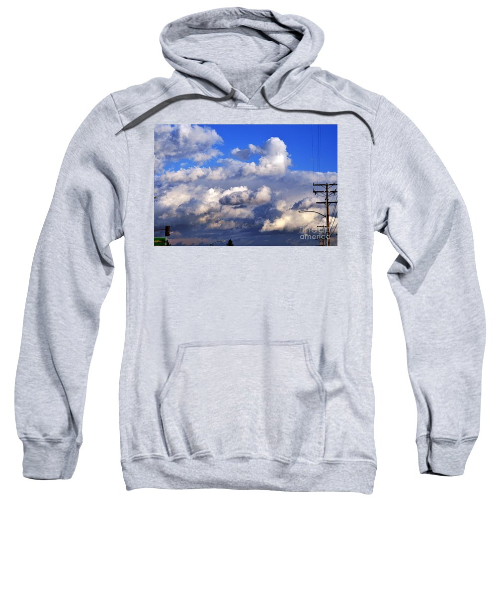 Clay Sweatshirt featuring the photograph Strange Clouds by Clayton Bruster