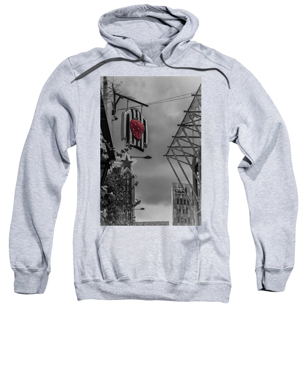 Strawberry Sweatshirt featuring the photograph Strawberry by David Pringle