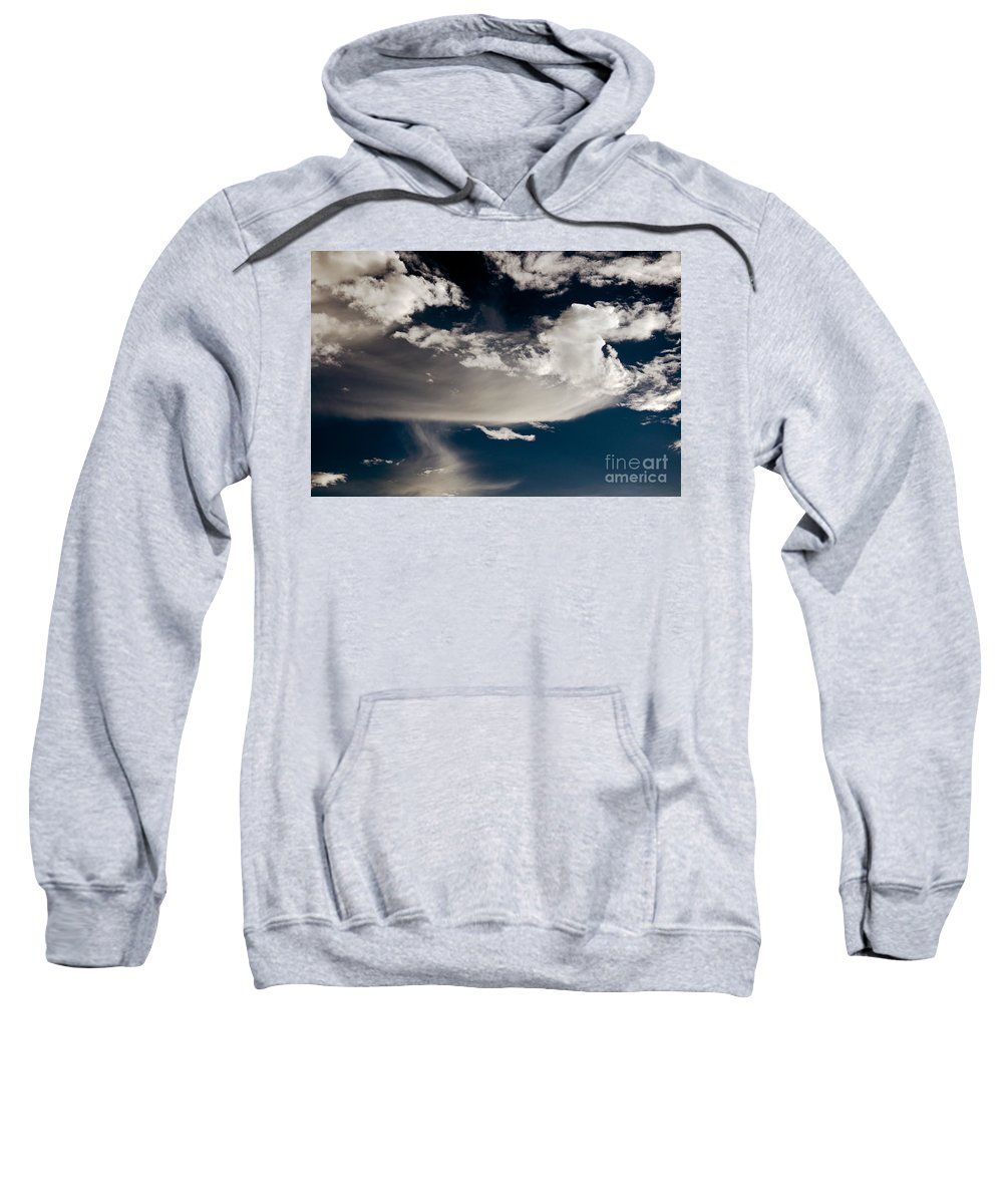 Clay Sweatshirt featuring the photograph Streakin' Cloud by Clayton Bruster