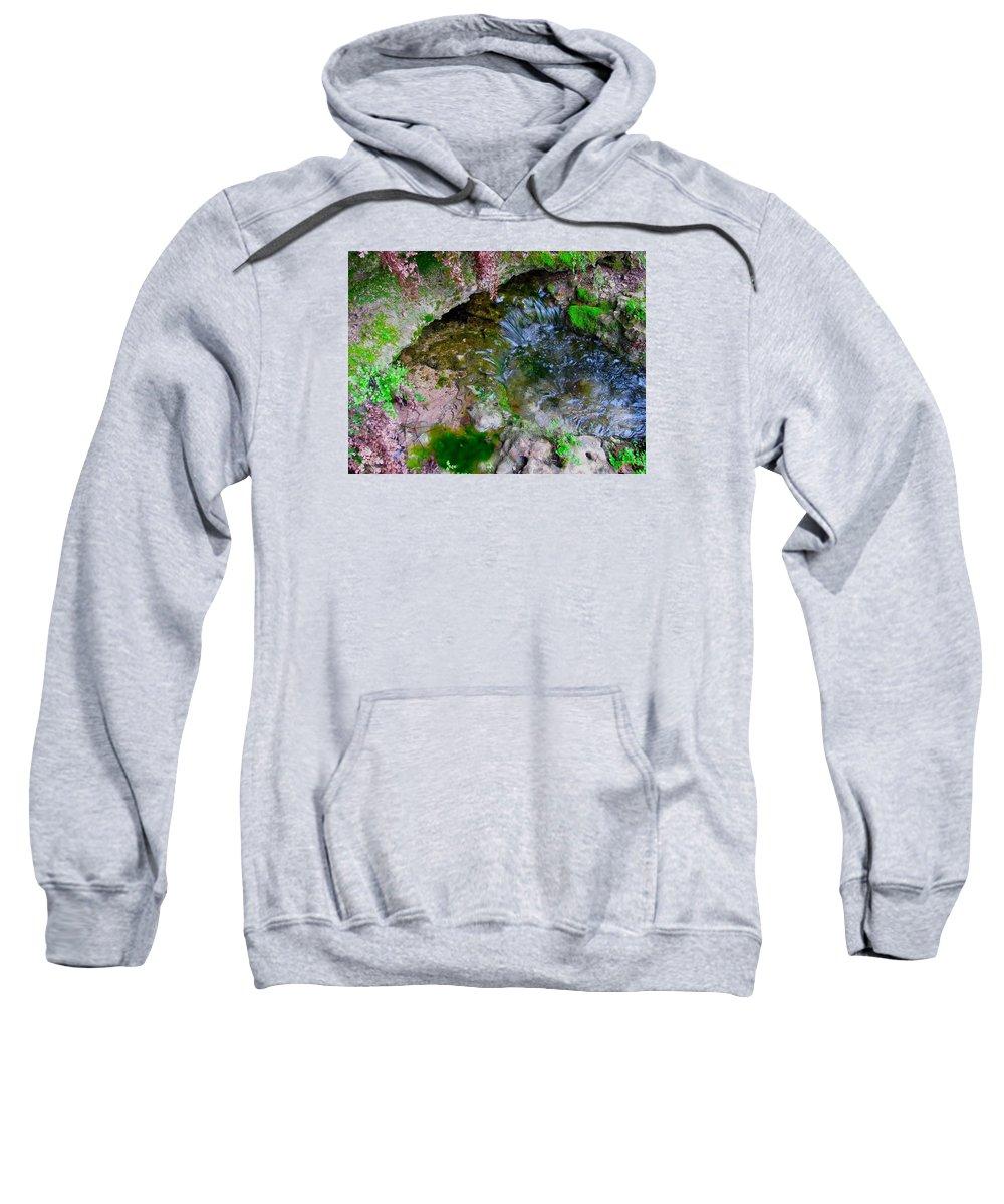Cascade Sweatshirt featuring the photograph Stream by Austin Clarke